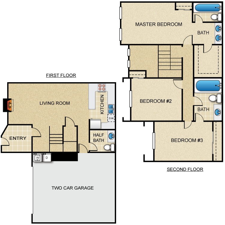 Floor plan image of 3x2.5-Villas