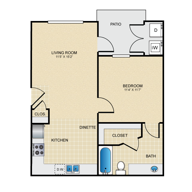 Floor plan image of The El Paso