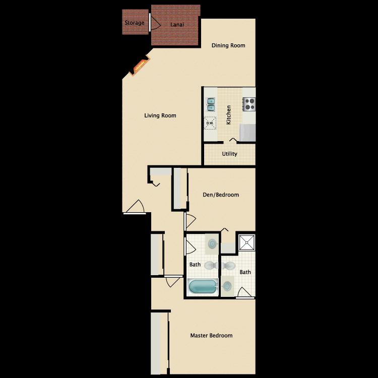 Floor plan image of The Gardner