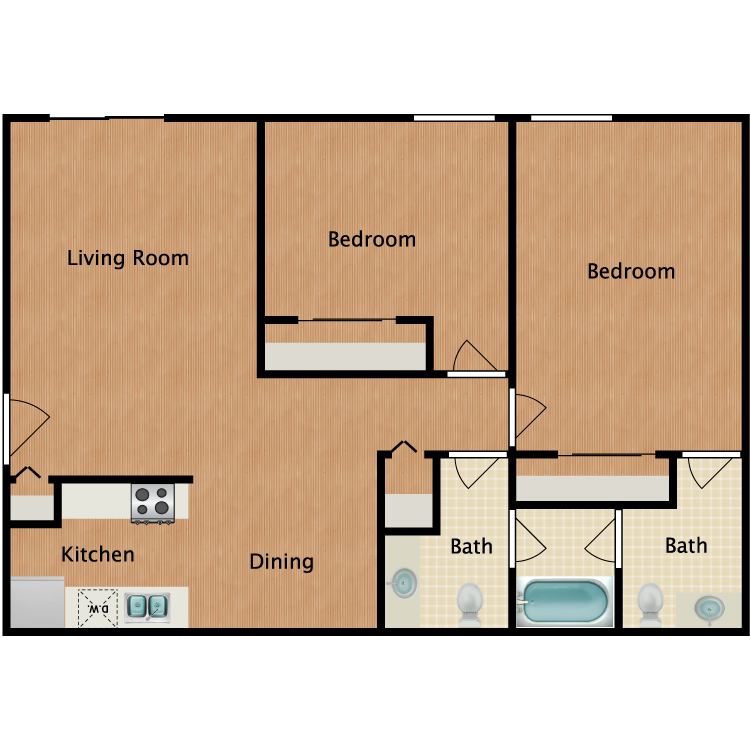 Floor plan image of Birch Deluxe