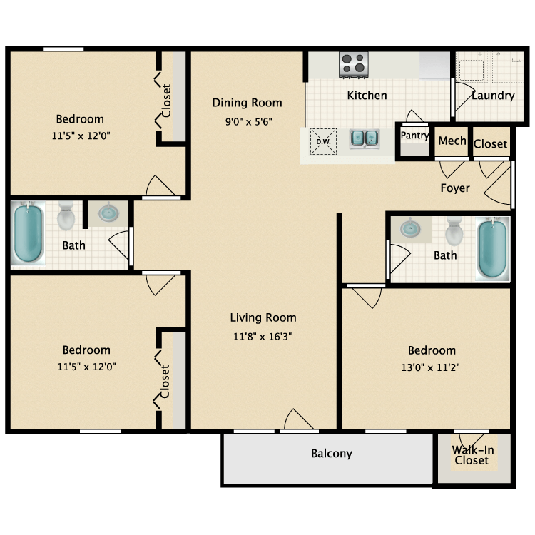 Floor plan image of Fall