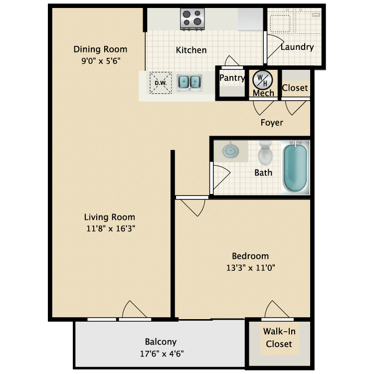 Floor plan image of Spring
