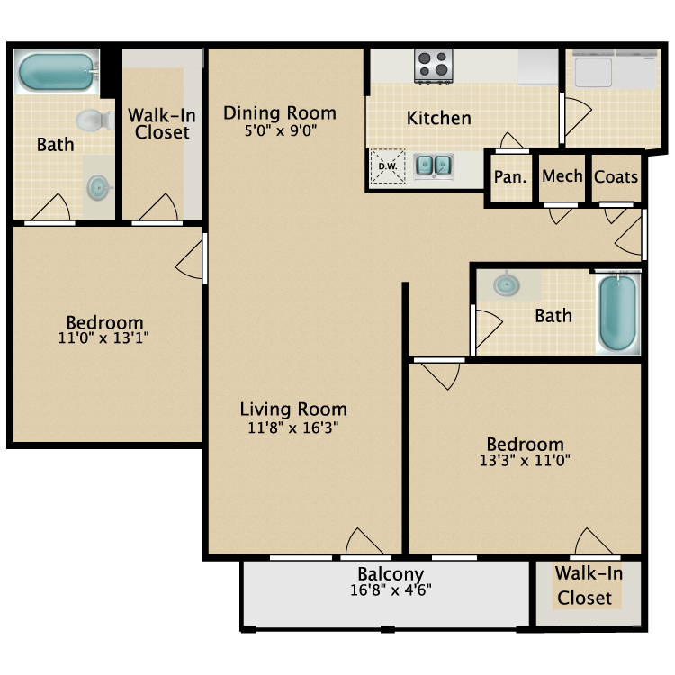 Floor plan image of Summer