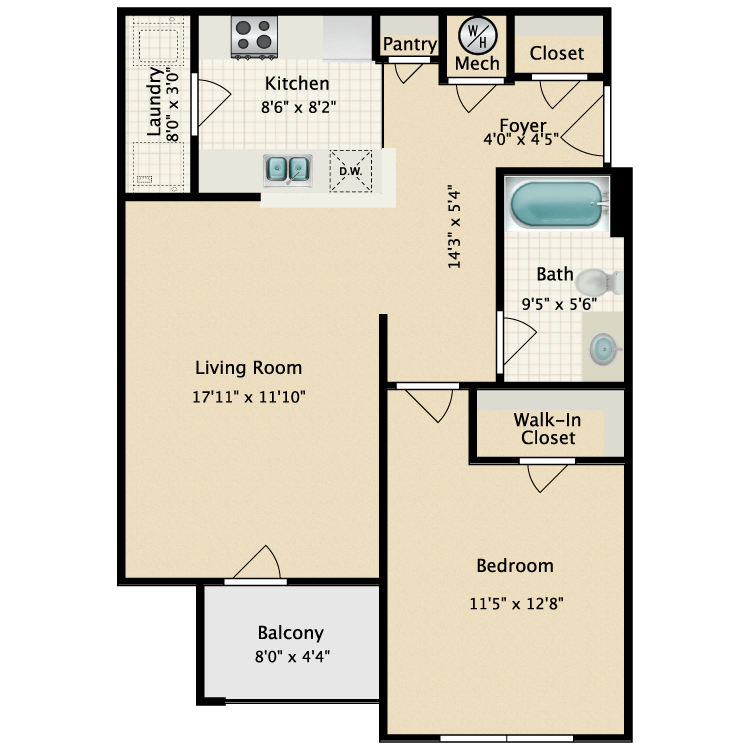 Floor plan image of Winter