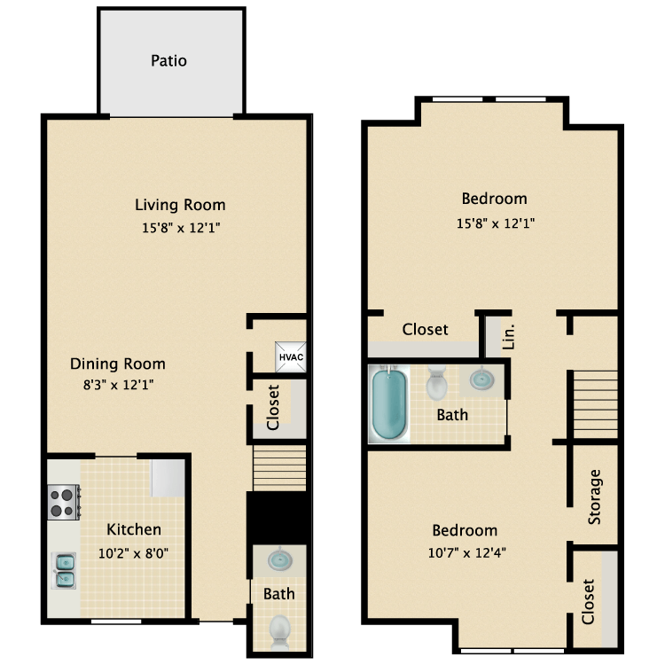 Floor plan image of B1TH- Townhouse