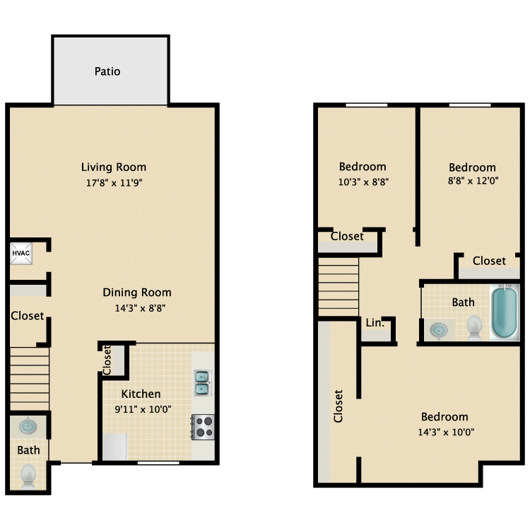 Floor plan image of C1- Townhouse