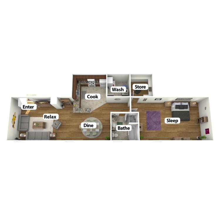 Floor plan image of The George Suite
