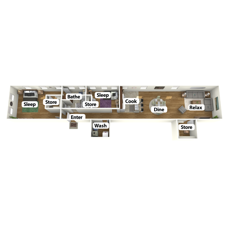 Floor plan image of Towell Suite