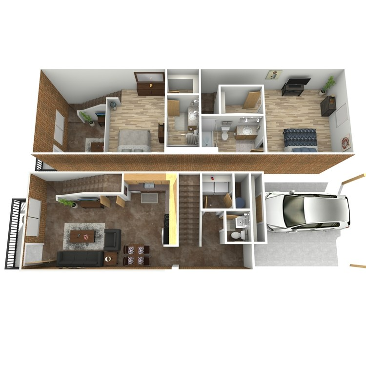 Floor plan image of Spencer Tracey B