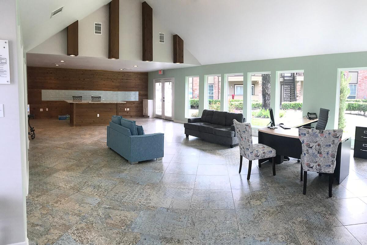 a room filled with lots of furniture