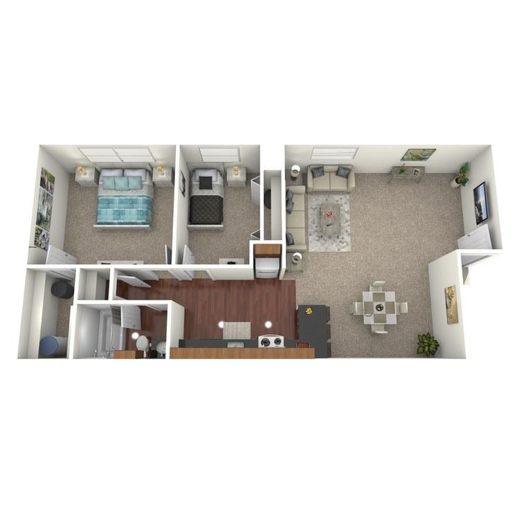 Floor plan image of The Marina Upstairs