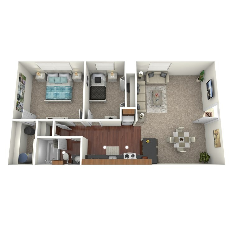 Floor plan image of The Marina Downstairs
