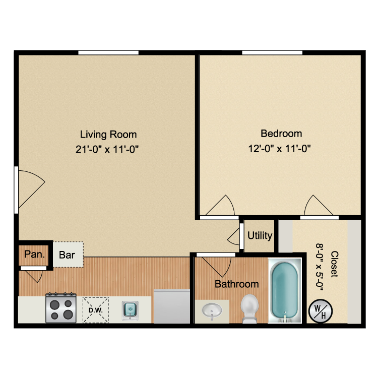 Floor plan image of The Shore Downstairs