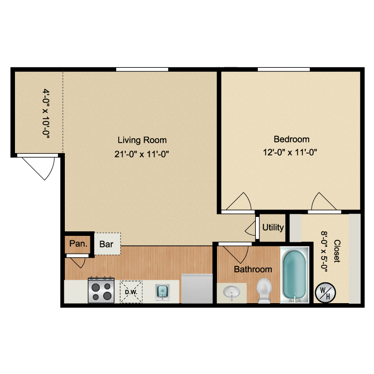 Floor plan image of The Shore Upstairs