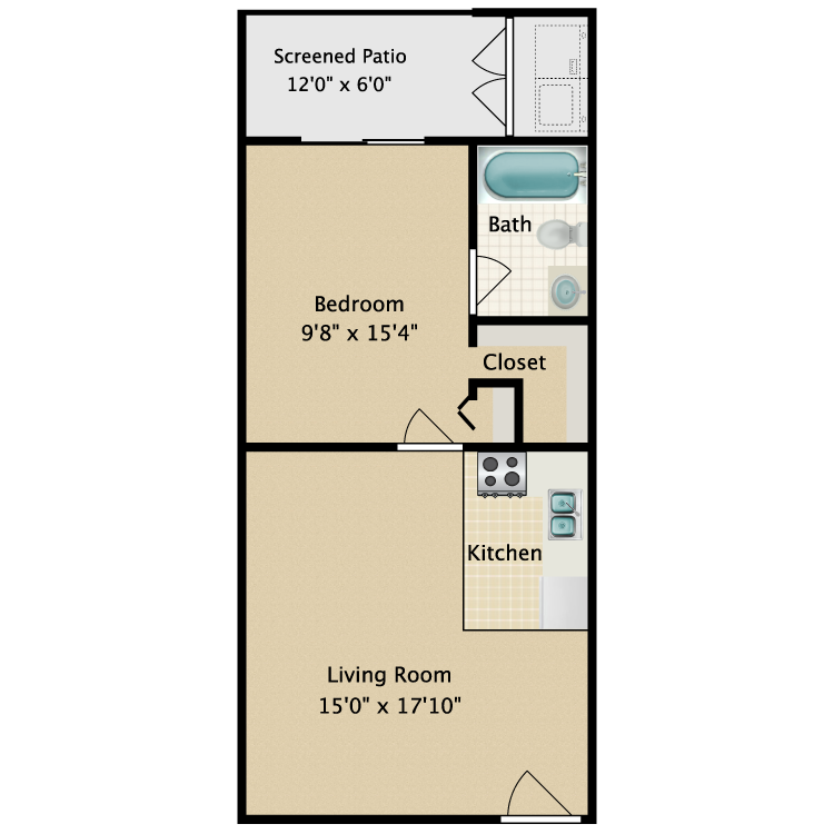 Floor plan image of Longleaf