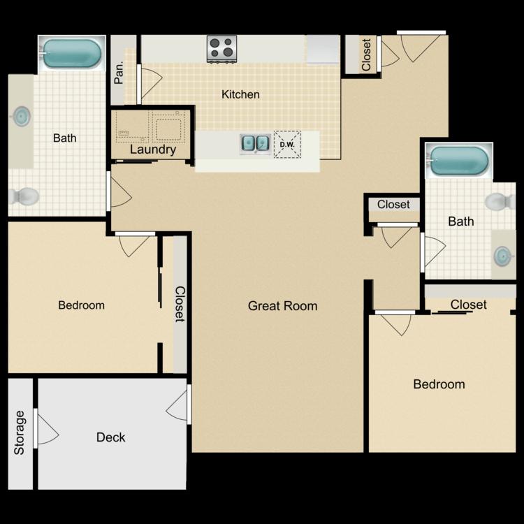 Violet floor plan image