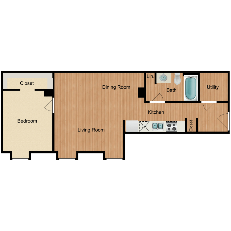 The Norfolk floor plan image