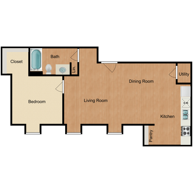 The Quantico floor plan image