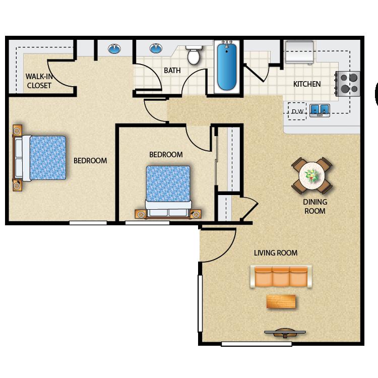 Plan F floor plan image
