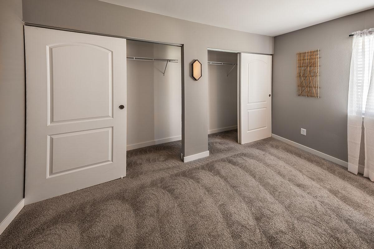 a double door in a room