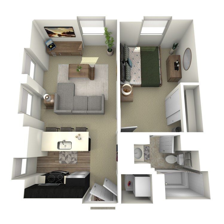 Floor plan image of 1x1A