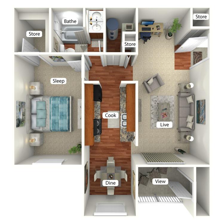 Floor plan image of Tippecanoe