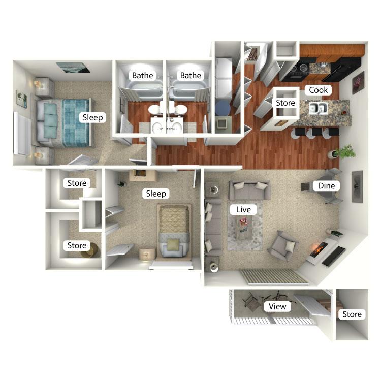 Floor plan image of Patoka