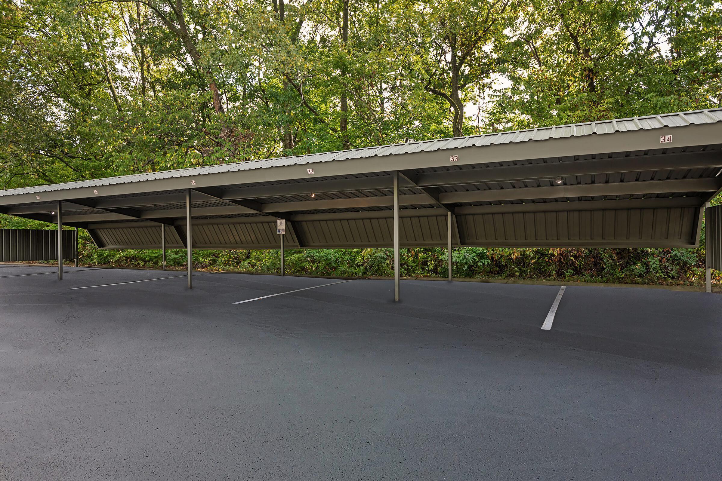 a large empty parking lot