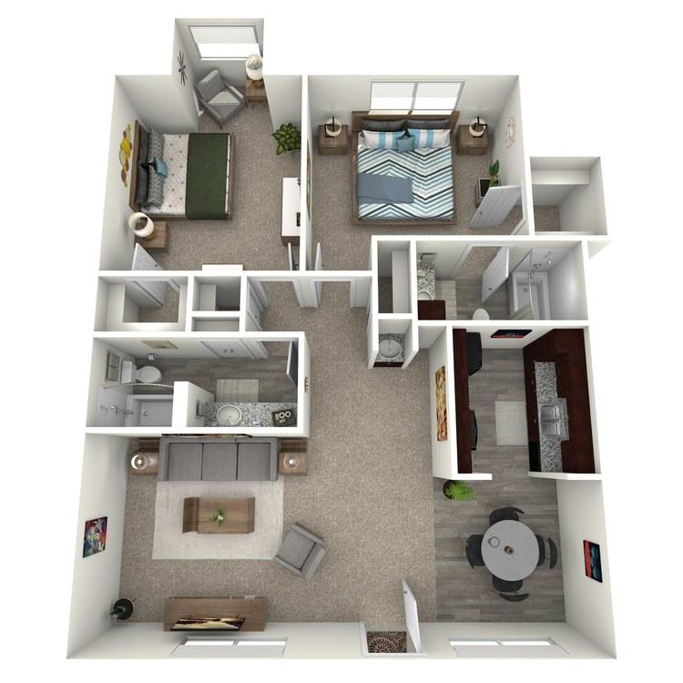 Floor plan image of B2A