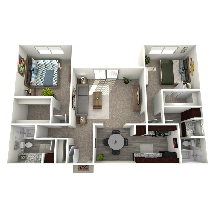Floor plan image of B3A