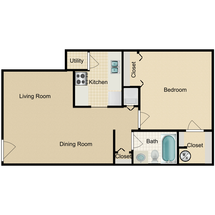 The Colonial floor plan image