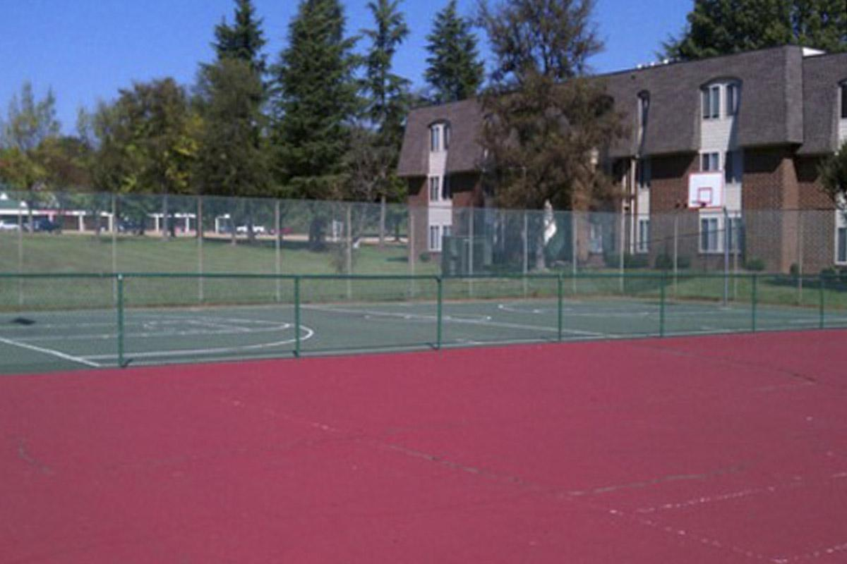 a red court