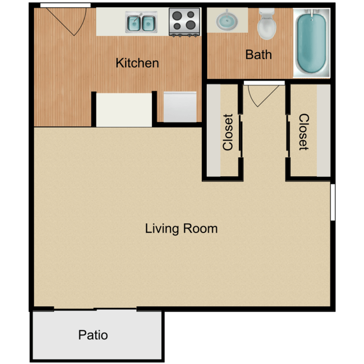 Floor plan image of Studio II