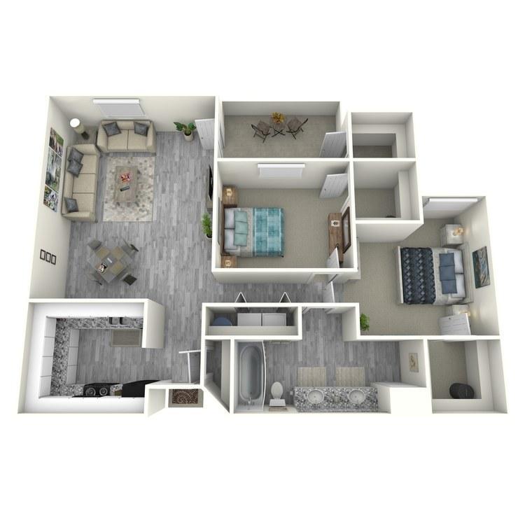 Floor plan image of 2X1PU