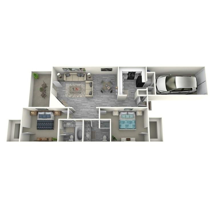 Floor plan image of 2x2TU