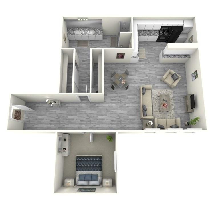 Floor plan image of 1x1BU