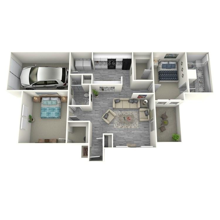 Floor plan image of 2x2TLU