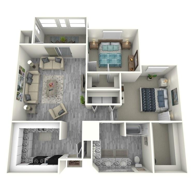 Floor plan image of 2x1SU