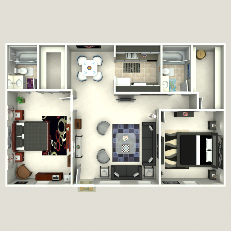 Floor plan image of 2 Bed 2 Bath Flat A