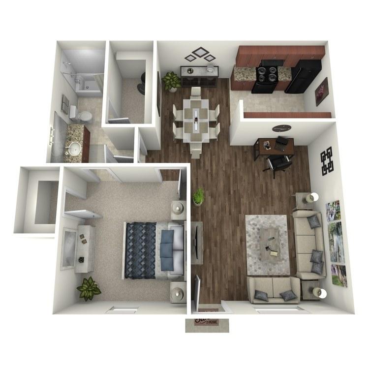 Floor plan image of 1 Bed 1 Bath Flat