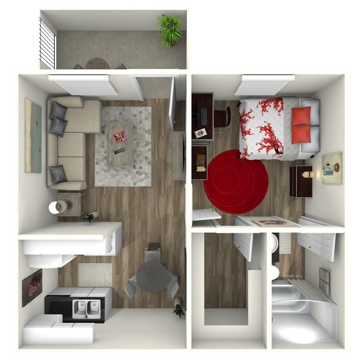 Floor plan image of  1x1A