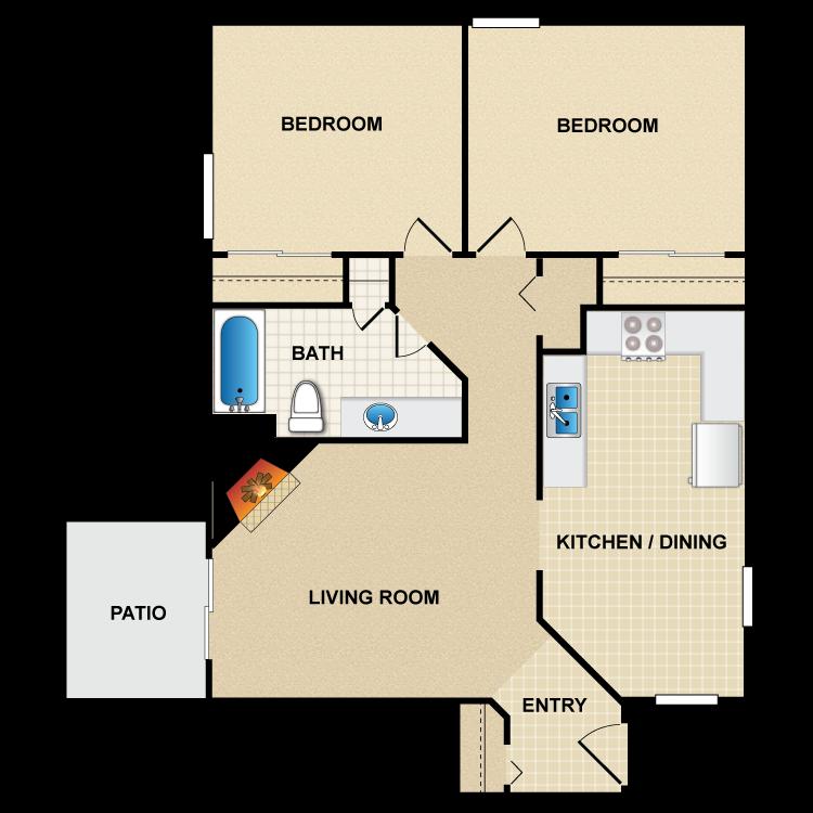 Floor plan image of B1 Santa Cruz