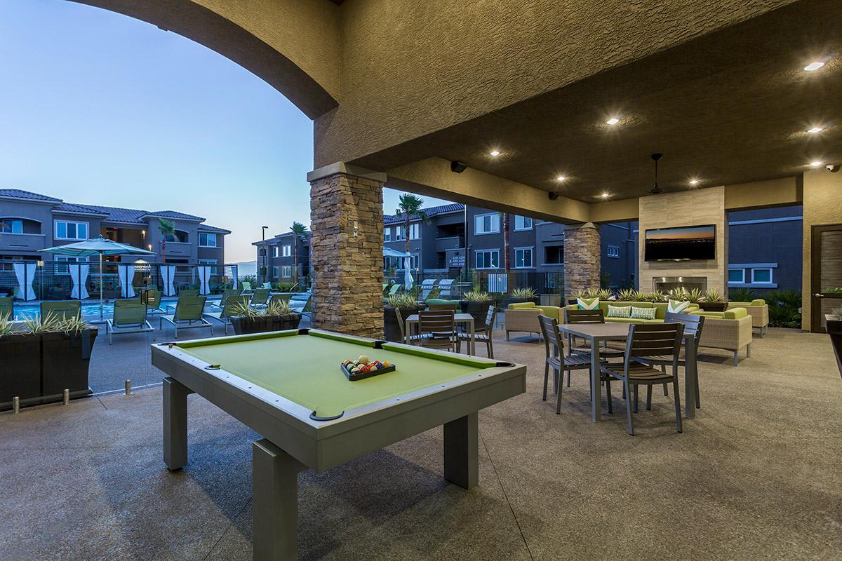 Play pool at The View at Horizon Ridge in Henderson, Nevada