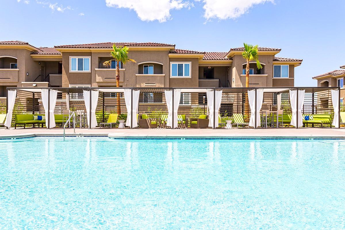 Resort style pool at The View at Horizon Ridge in Henderson, Nevada