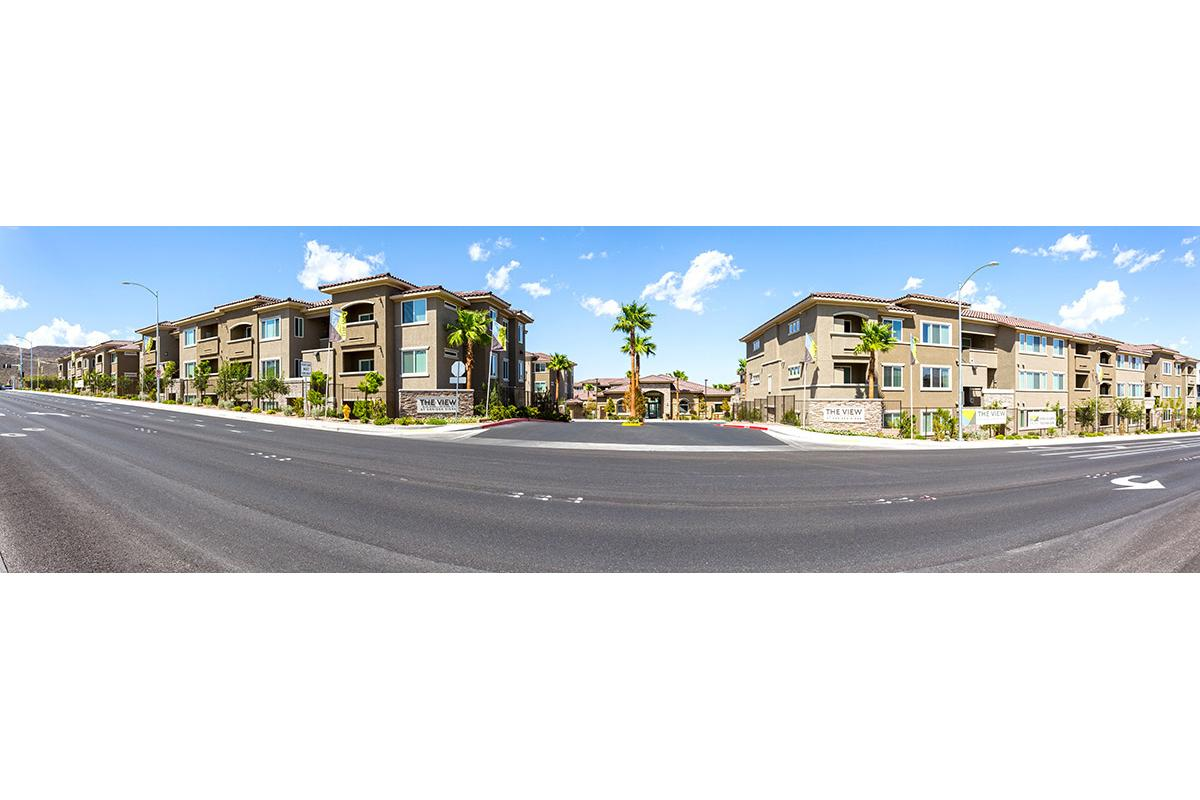 The street view at The View at Horizon Ridge in Henderson, Nevada