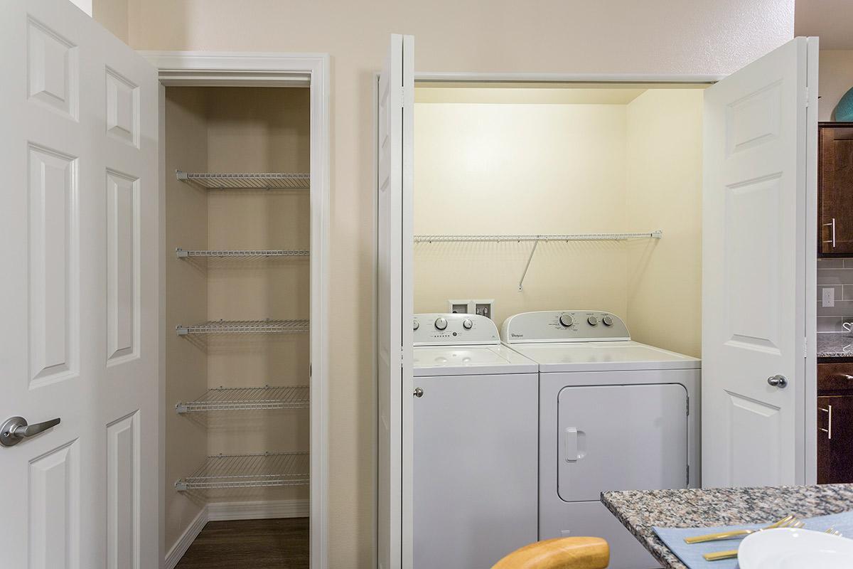 Laundry room at The View at Horizon Ridge in Henderson, Nevada