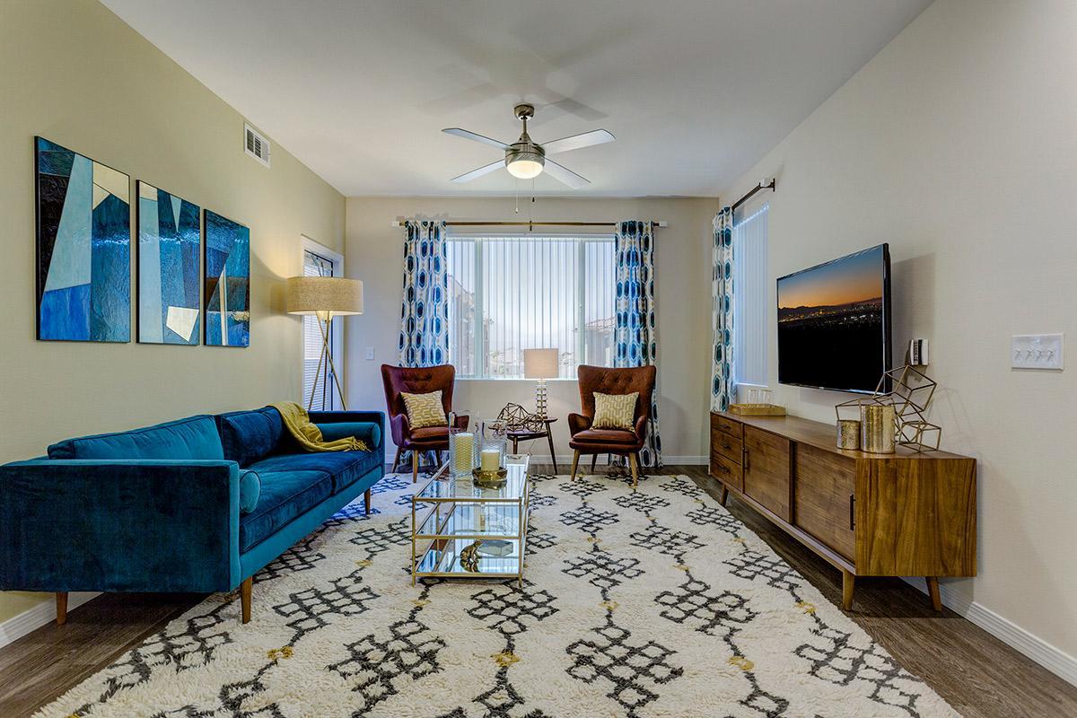 Living room at The View at Horizon Ridge in Henderson, Nevada