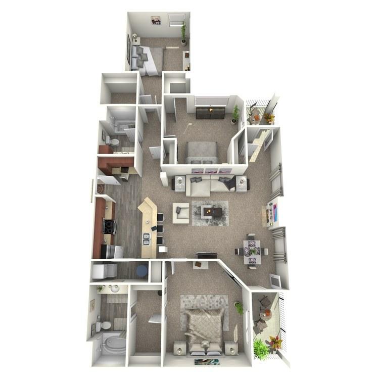 Floor plan image of The Santiago