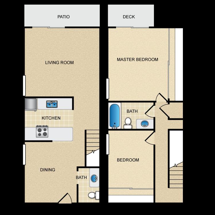 Floor plan image of Townhouse 1
