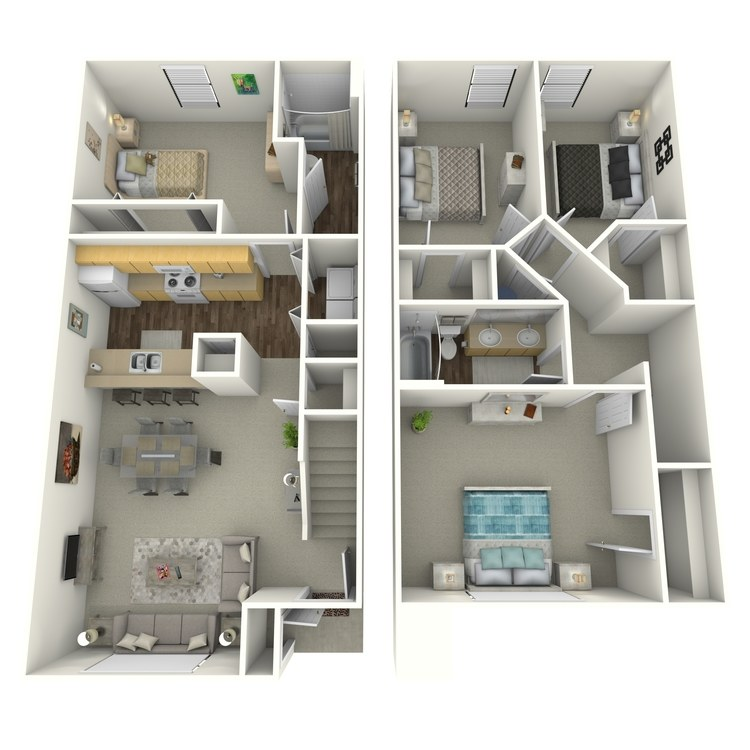 4 Bedroom Townhomes: Apartments In Emporia, KS